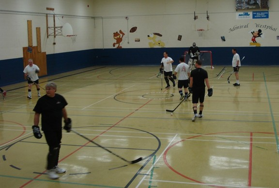 Action Shots The 6 Pack Ball Hockey Team
